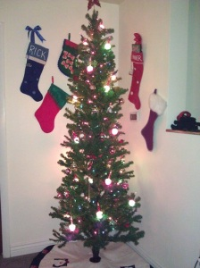 Lots of stockings on the wall means a big happy family lives here.