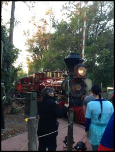 Brooke was hoping that this train would bring us to Diagon Alley. It does not. Sadly.
