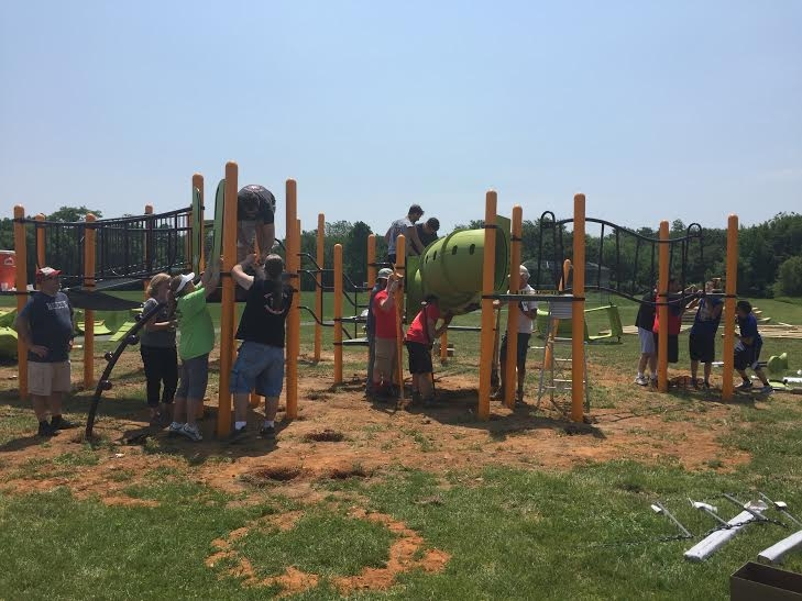 It's about the kids in my community having a brand new playground that has age appropriate equipment.