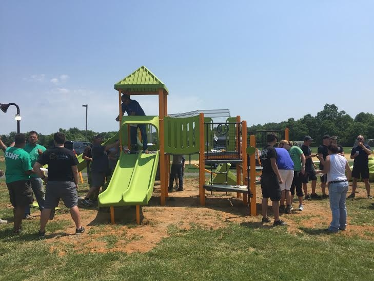 It's about the kids in my community having a playground that isn't vandalized.